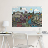 Visite Paris Coloring Wall Decal Wall Decal