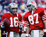 Joe Montana & Dwight Clark 1986 Action Photo