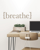 Breathe Wall Quote Decalques de parede