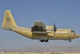A Royal Saudi Air Force C-130 Prepares for Landing Photographic Print by  Stocktrek Images