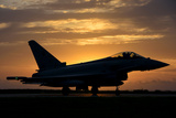 An Italian Air Force F-2000 Typhoon at Sunset Photographic Print by  Stocktrek Images