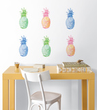 Pop Pineapples Wall Art Kit Decalques de parede