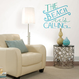 Beach is Calling Wall Quote Decalques de parede