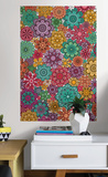 Marigold Floral Coloring Wall Decal Decalques de parede