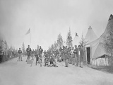 Military Camp with Soliders in Street During the American Civil War Photographic Print by  Stocktrek Images