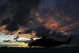 An Ah-2 Sabre at Sunset in Natal, Brazil Photographic Print by  Stocktrek Images