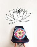 Lotus Flower Small Wall Art Kit Decalques de parede