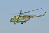 A Bulgarian Air Force Mi-8 Helicopter in Flight over Bulgaria Photographic Print by  Stocktrek Images