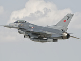 Turkish Air Force F-16 in Flight over Turkey Photographic Print by  Stocktrek Images