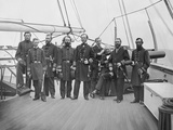 Admiral John A. Dahlgren and His Officers During the American Civil War Photographic Print by  Stocktrek Images