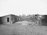 Infantry Winter Quarters During the American Civil War Photographic Print by  Stocktrek Images