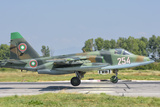 A Bulgarian Air Force Su-25 Jet During Exercise Thracian Star Photographic Print by  Stocktrek Images