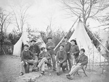 American Civil War Soldiers at their Encampment Photographic Print by  Stocktrek Images