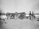 Artillery Drill in Fort During the American Civil War Photographic Print by  Stocktrek Images