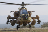 Front View of an Ah-64D Saraf Helicopter of the Israeli Air Force Photographic Print by  Stocktrek Images