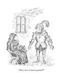 """How does it look untucked"" - New Yorker Cartoon Giclee Print by Edward Koren"