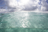 Sunlight Illuminates the Turquoise Water in Turneffe Atoll, Belize Photographic Print by  Stocktrek Images