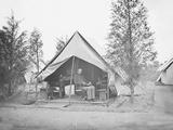 Officer in Tent During American Civil War Photographic Print by  Stocktrek Images