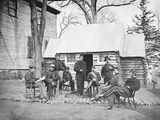 Officers at Headquarters of 6th Army Corps During the American Civil War Photographic Print by  Stocktrek Images