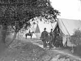 Group of American Civil War Officers at their Encampment Photographic Print by  Stocktrek Images