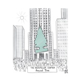 "TITLE: The Rockerfeller Center ""August Tree"" Giant car freshener hangs in ... - New Yorker Cartoon Giclee Print by Paul Noth"
