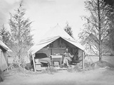 Lieutenant James B. Neill Sitting Inside His Tent During the American Civil War Photographic Print by  Stocktrek Images