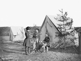 Lieutenant Colonel Michael C. Murphy and Officers at their Encampment Photographic Print by  Stocktrek Images