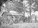 Camp Scene at a Sutler's Store During American Civil War Photographic Print by  Stocktrek Images