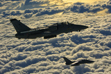 Italian Air Force Amx-Acol Aircraft Flying Above the Clouds Photographic Print by  Stocktrek Images