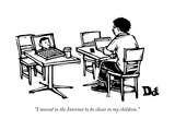"""I moved to the Internet to be closer to my children."" - New Yorker Cartoon Premium Giclee Print by Drew Dernavich"