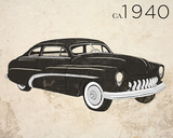 Vintage Coupe Poster by Sd Graphics Studio