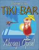 Tiki Bar Always Open Prints by  A Fresh Bunch