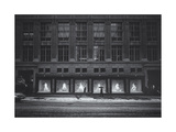 Saks Fifth Avenue In Snow Photographic Print by Henri Silberman