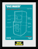 Space Invaders Cabinet Collector-tryk
