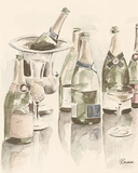 Sepia Champagne Reflections II Art by Heather A. French-Roussia