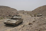 Merkava Iii Main Battle Tanks in the Negev Desert, Israel Photographic Print by  Stocktrek Images