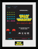 Space Invaders Adverts Collector-tryk