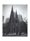Saint Patrick'S Cathederal In Winter Photographic Print by Henri Silberman