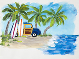 Tropical Vacation II Prints by Julie DeRice