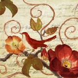 Avian on Red I Art by Lanie Loreth