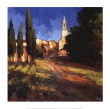 Pathway to the Villa Prints by Philip Craig