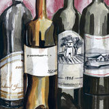 Vintage Wines I Print by Heather A. French-Roussia