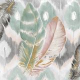 Ikat Feathers I Poster by Patricia Pinto
