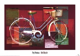 Red Bicycle Art by Pep Ventosa
