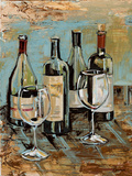 Wine I Prints by Heather A. French-Roussia