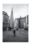 San Francisco Transamerica Building Umbrella Runner Photographic Print by Henri Silberman