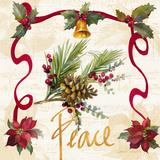 Christmas Poinsettia Ribbon II Plakat autor Lanie Loreth
