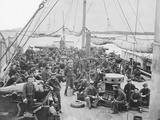 Sailors on Deck of Uss Mendota Gun Boat During American Civil War Photographic Print by  Stocktrek Images