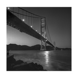 Golden Gate Bridge Evening Marin Headlands Photographic Print by Henri Silberman