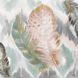 Ikat Feathers II Posters by Patricia Pinto